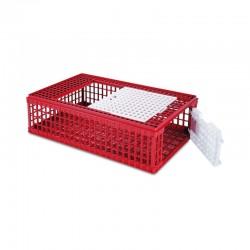 Jaula de Plástico para Transporte de Aves